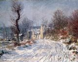The Road to Giverny in Winter by Claude Monet