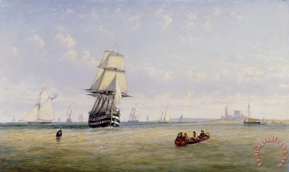 Claude T Stanfield Moore Meno War Schooners and Royal Navy Yachts Art Print