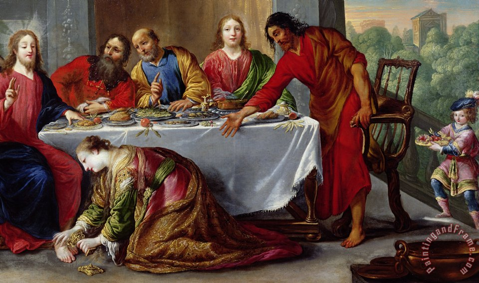 Claude Vignon Christ In The House Of Simon The Pharisee