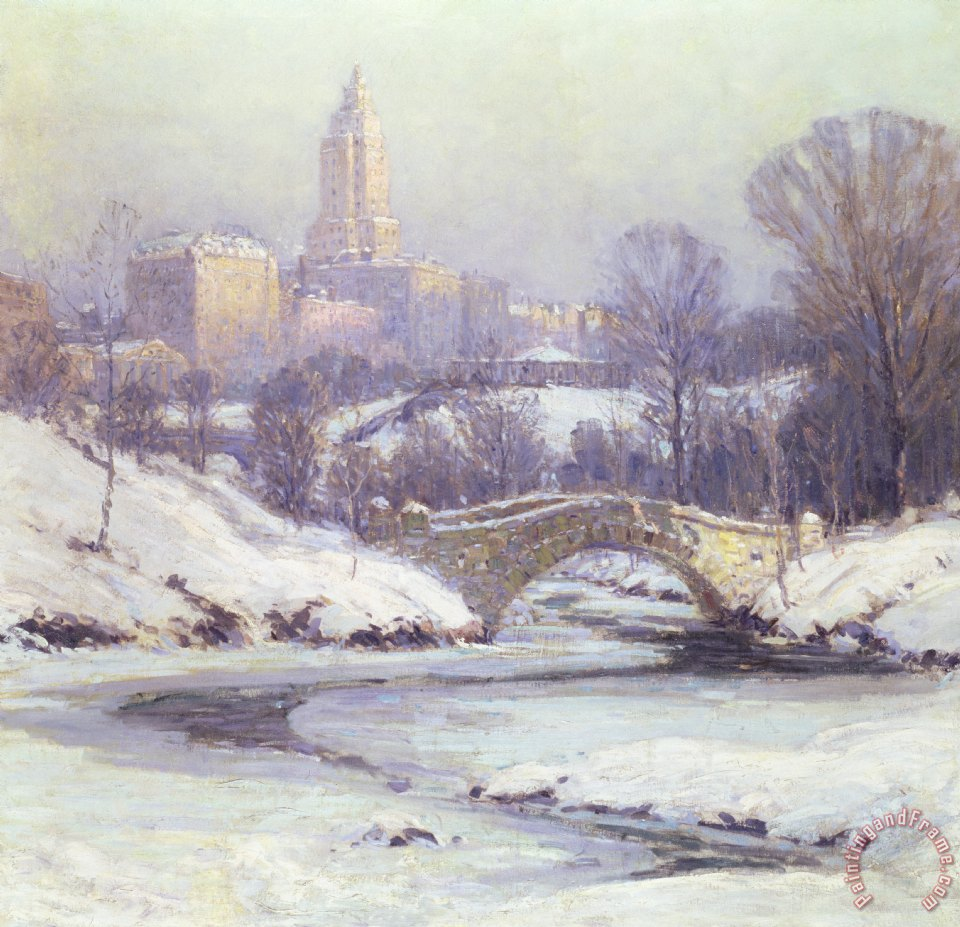 Central Park painting - Colin Campbell Cooper Central Park Art Print