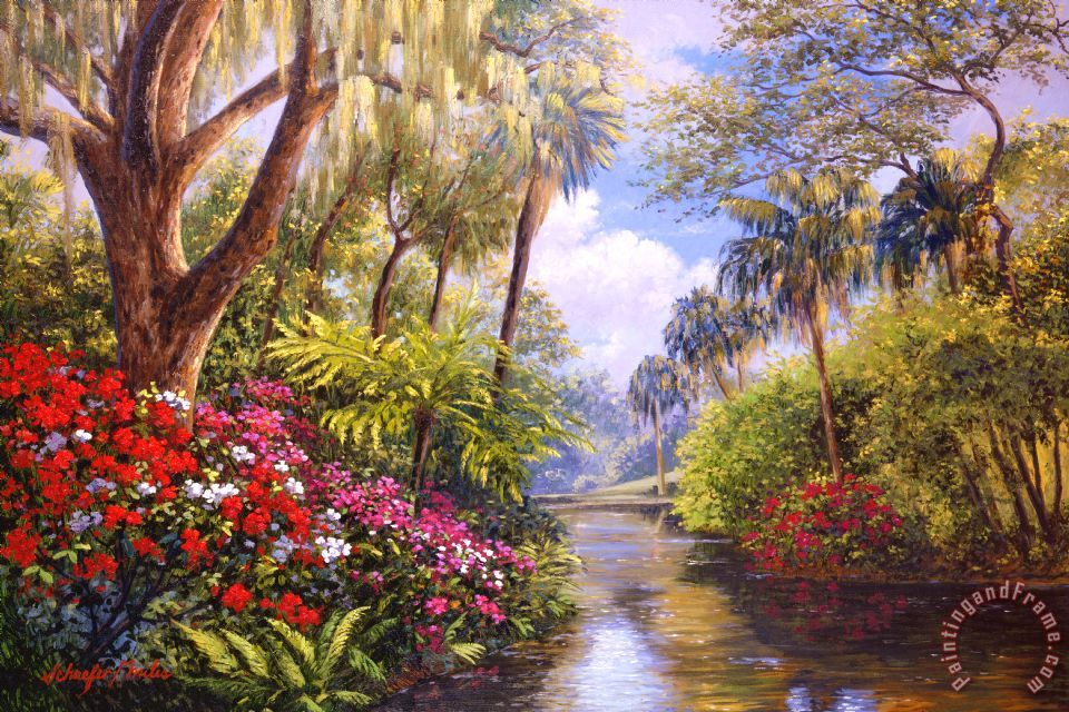 A Day in Paradise painting - Collection A Day in Paradise Art Print