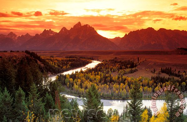 Collection Grand Teton National Park Snake River Painting