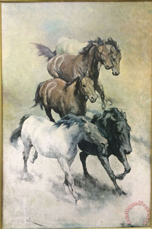 Collection horses painting horses print for sale for Large prints for sale