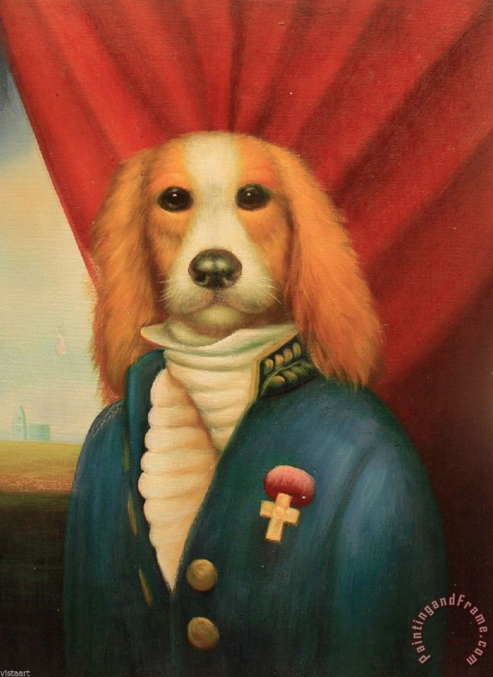 Dogs In Suits Paintings