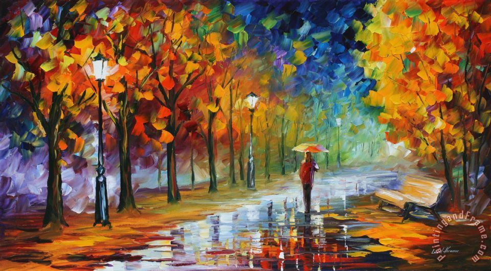 autumn date by leonid afremov