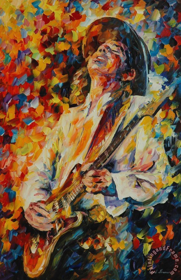 Leonid Afremov Stevie Ray Vaughan Painting Stevie Ray
