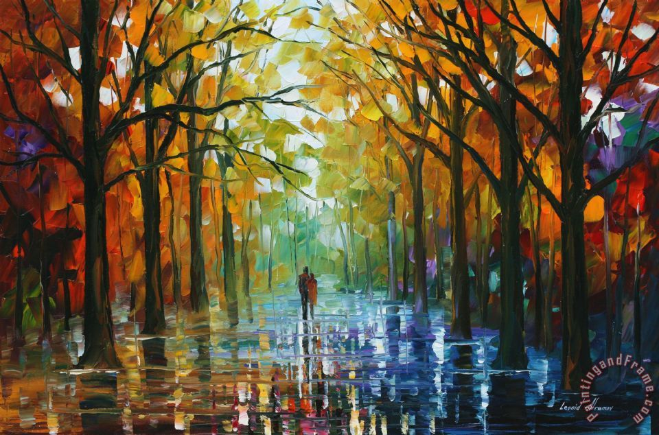 Leonid Afremov Fall Date Art Print