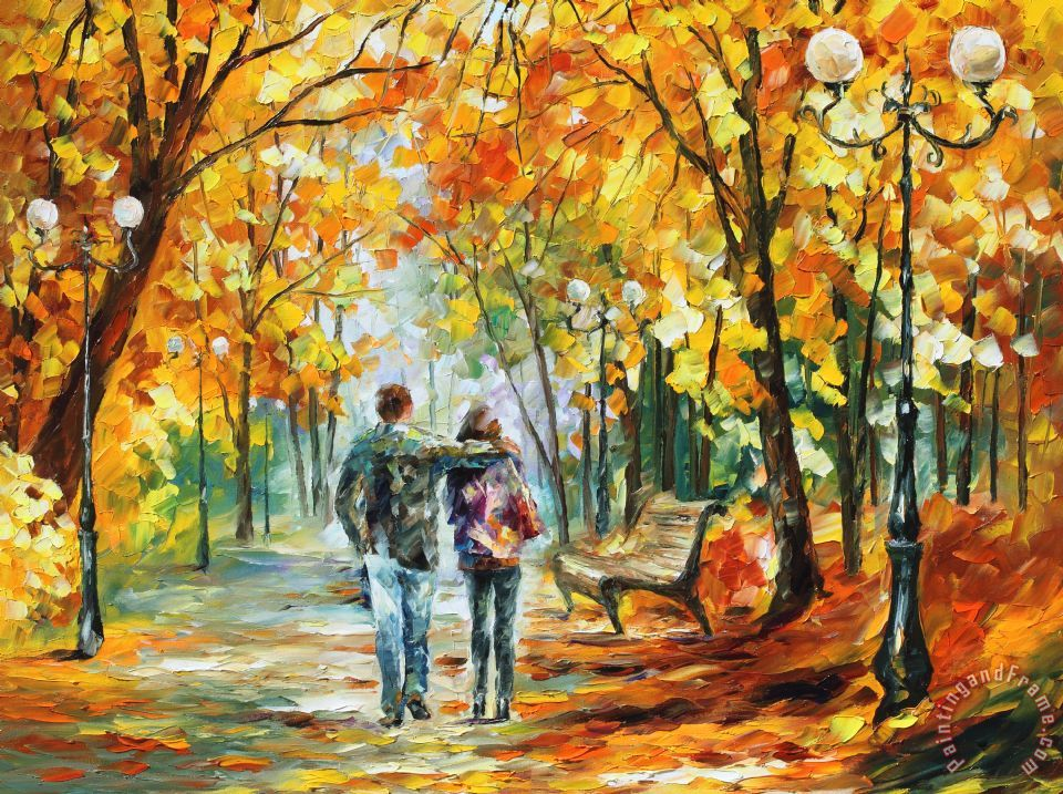 Going Home painting - Leonid Afremov Going Home Art Print