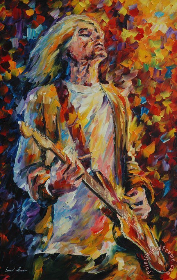 Leonid afremov kurt cobain painting kurt cobain print for How to sale art paintings