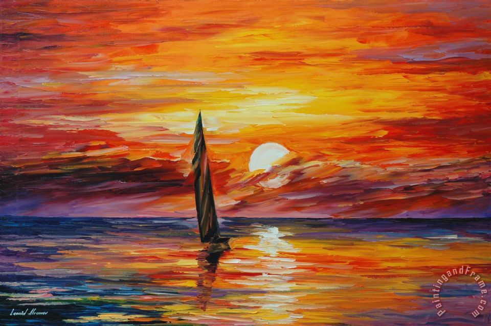 Leonid Afremov Lonely Sail