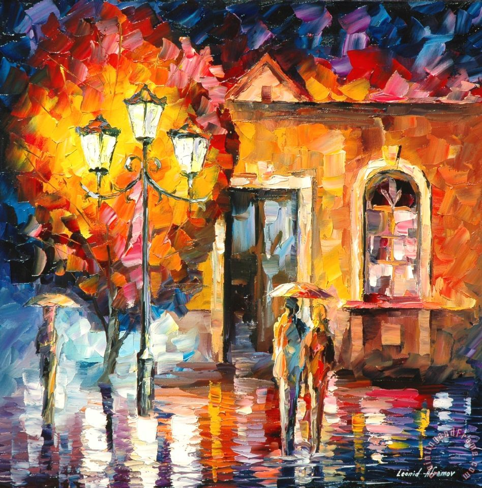 Love Sonata painting  -  Leonid Afremov Love Sonata Art Print