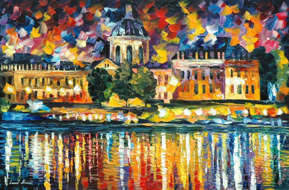 leonid afremov paris art institute painting paris art institute