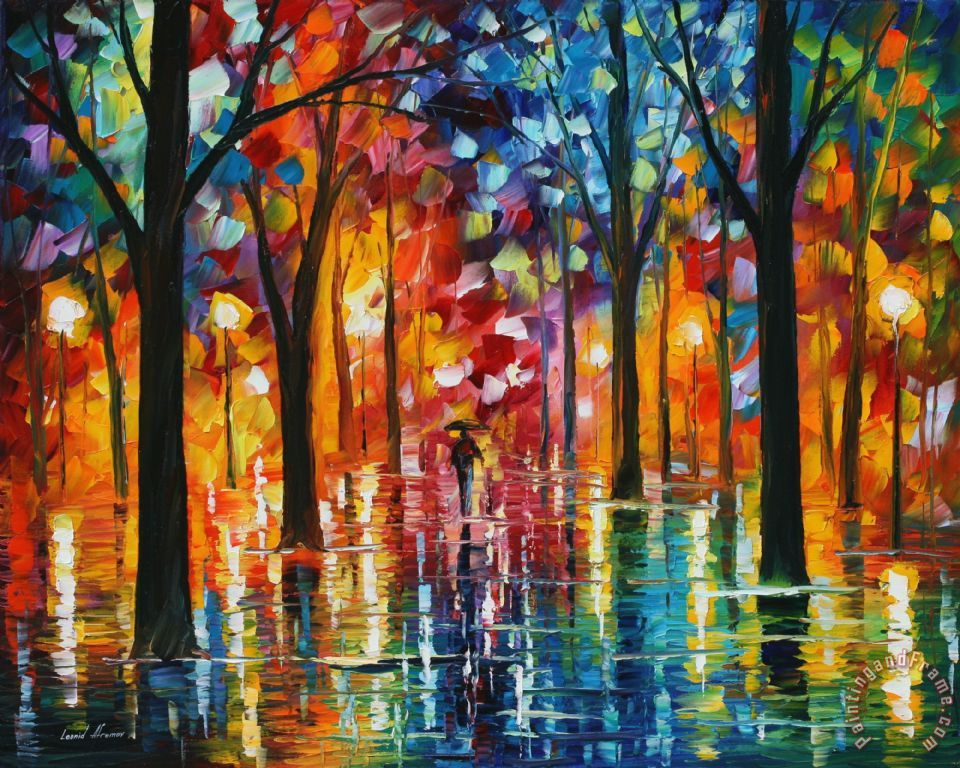 Rain Of Fire painting - Leonid Afremov Rain Of Fire Art Print