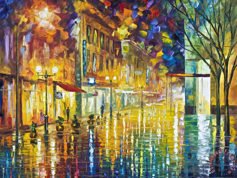 Leonid Afremov Scent Of Rain High Resolution Art Print