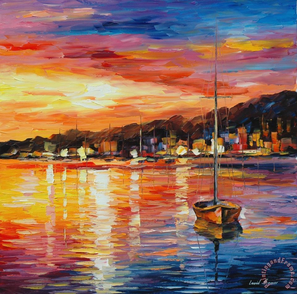 leonid afremov sunrise art painting for sale