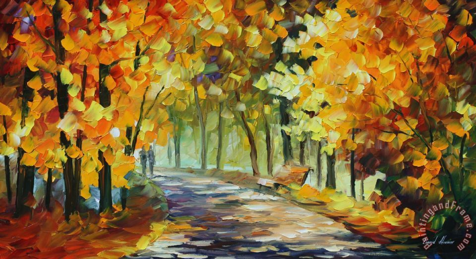 Under The Gold Arch painting - Leonid Afremov Under The Gold Arch Art Print