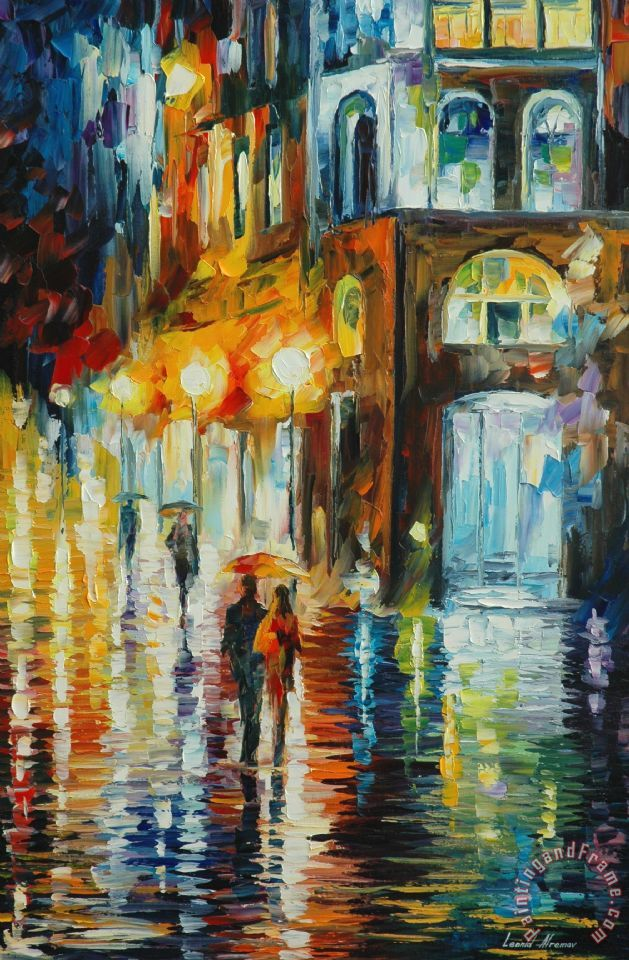 Leonid Afremov West Palm Beach - City Place Art Print