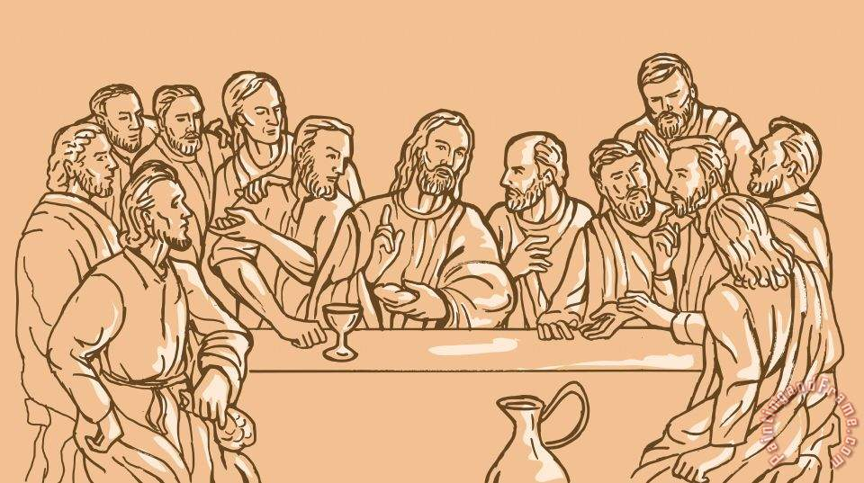 Collection 10 last supper of Jesus Christ Art Print