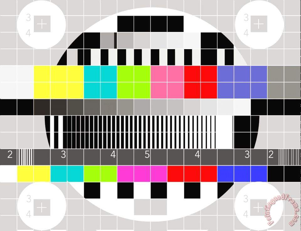 Collection 60 TV Multicolor Signal Test Pattern Painting TV Delectable Test Pattern