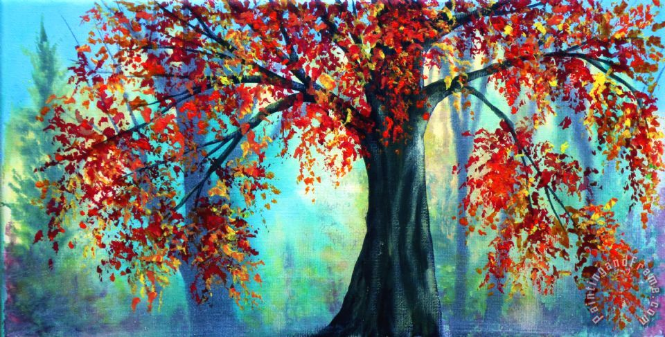 Collection 9 Autumn Leaves Art Painting