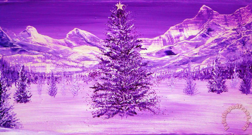 Silent Night painting - Collection 9 Silent Night Art Print