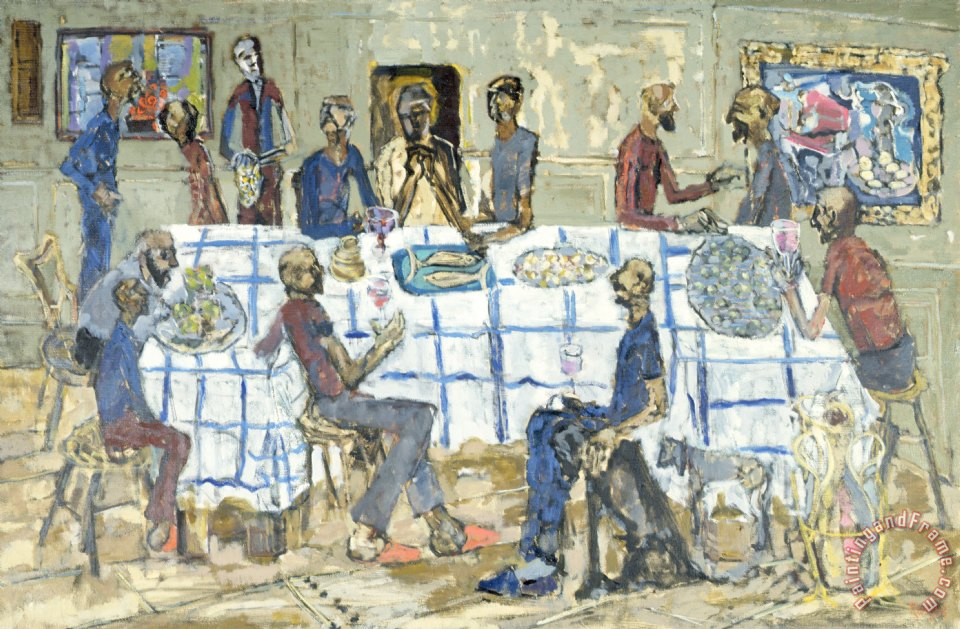 conrad romyn the last supper painting the last supper print for sale