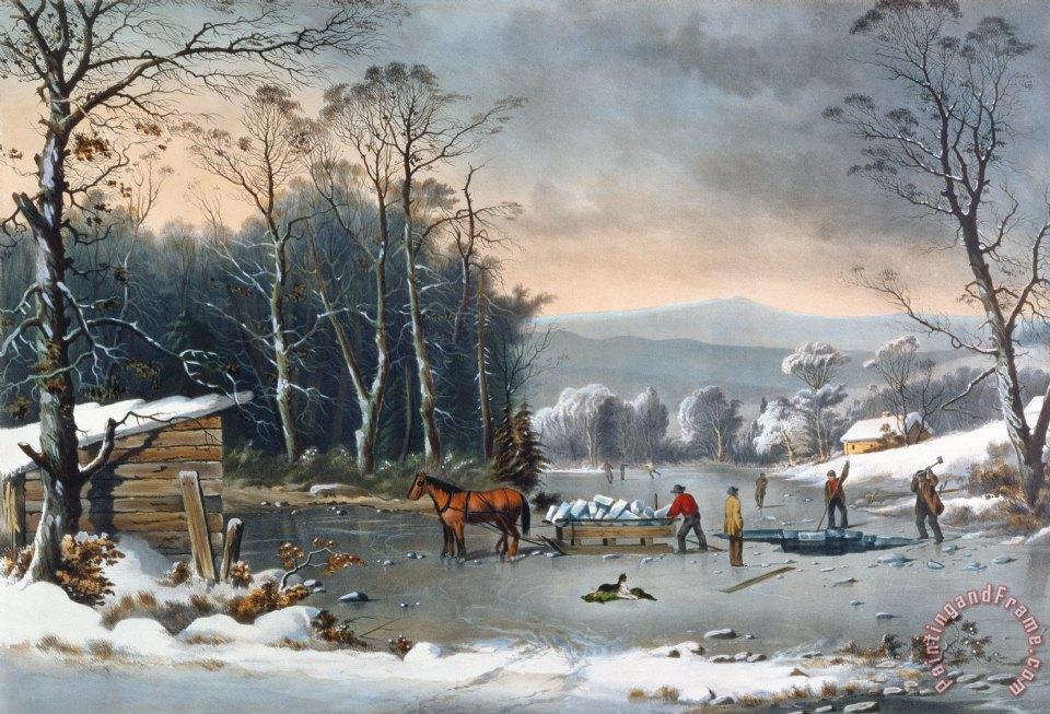 Currier And Ives Winter In The Country Art Print For Sale
