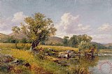 A River Landscape by David Bates