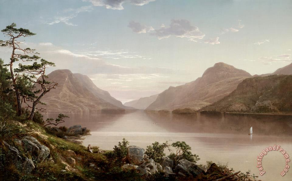 Up The Hudson to West Point painting - David Johnson Up The Hudson to West Point Art Print