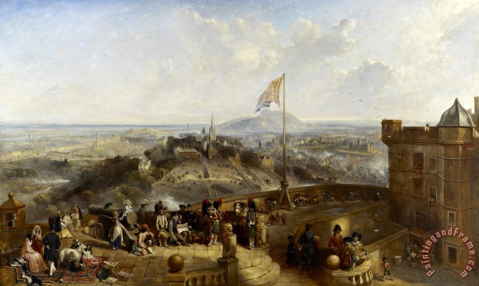 Edinburgh Old And New painting - David Octavius Hill Edinburgh Old And New Art Print
