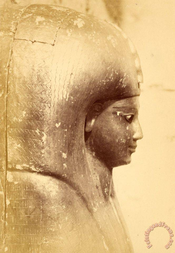 (close Up of The Sarcophagus of The Queen Aah Hotep (profile)) painting - Despoineta (close Up of The Sarcophagus of The Queen Aah Hotep (profile)) Art Print