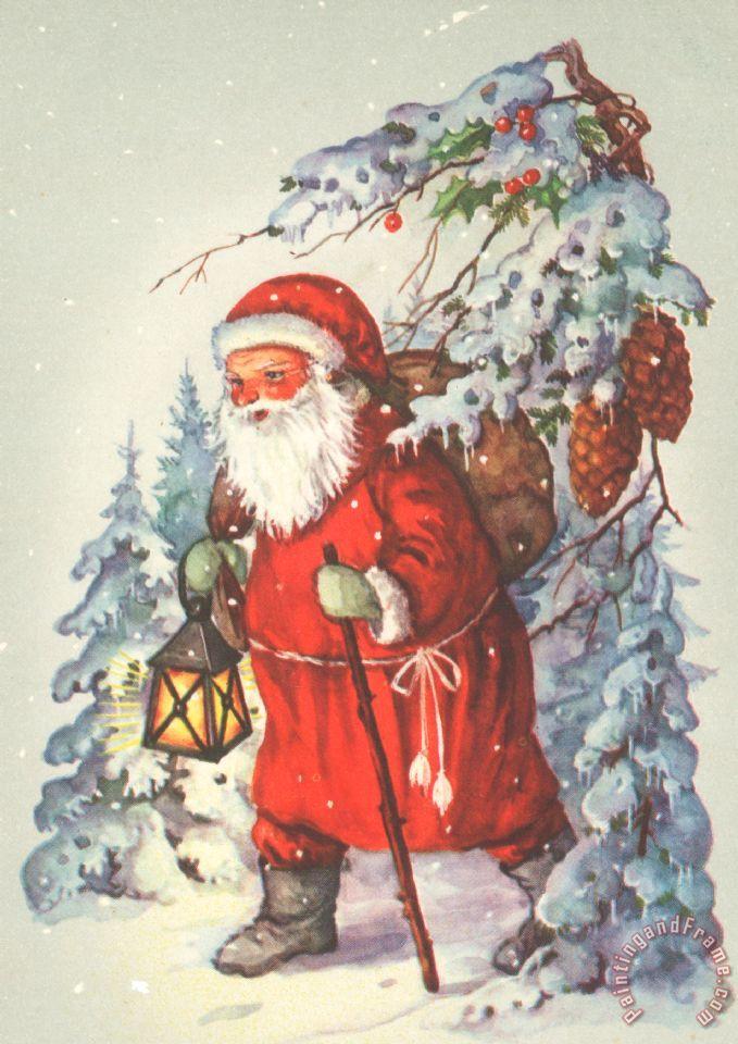 Dutch school christmas card painting christmas card print for sale christmas card painting dutch school christmas card art print m4hsunfo