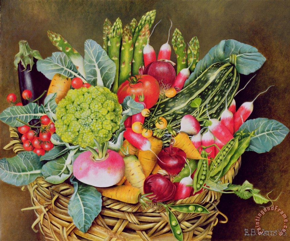 Eb Watts Summer Vegetables Art Painting For Sale