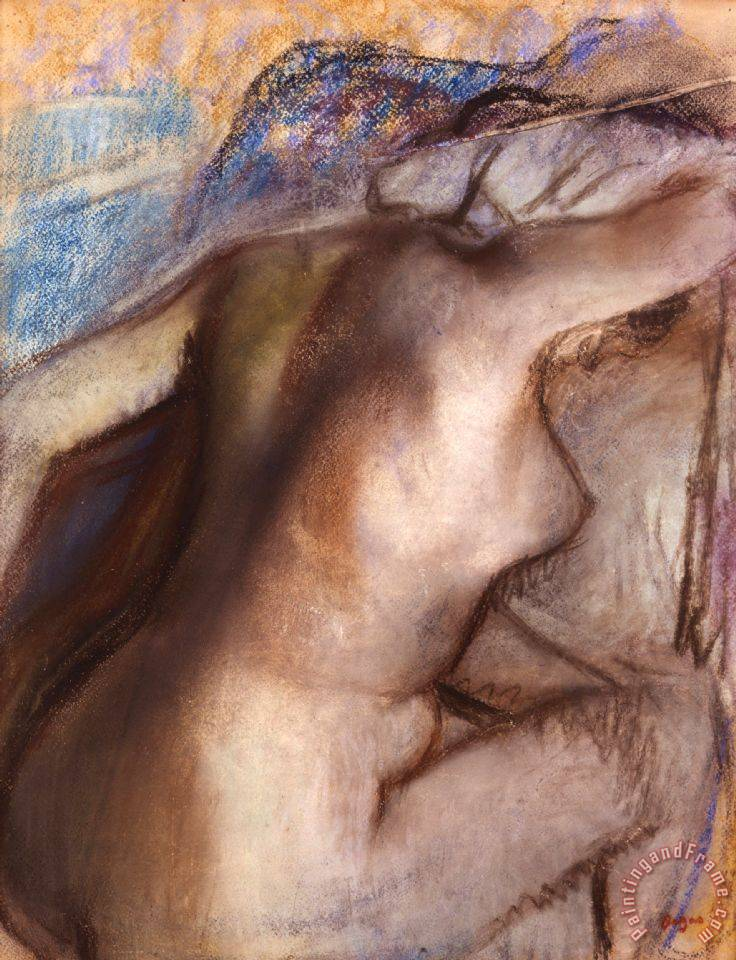 After The Bath, Woman Drying Herself painting - Edgar Degas After The Bath, Woman Drying Herself Art Print