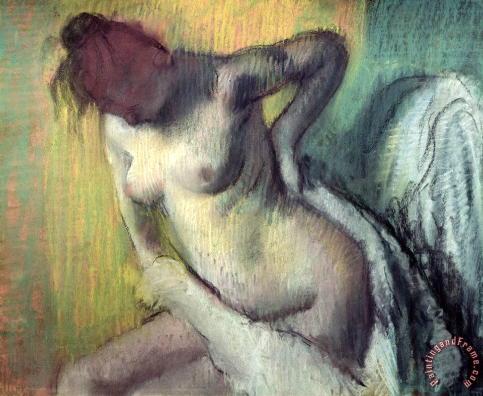 Woman Drying Herself painting - Edgar Degas Woman Drying Herself Art Print