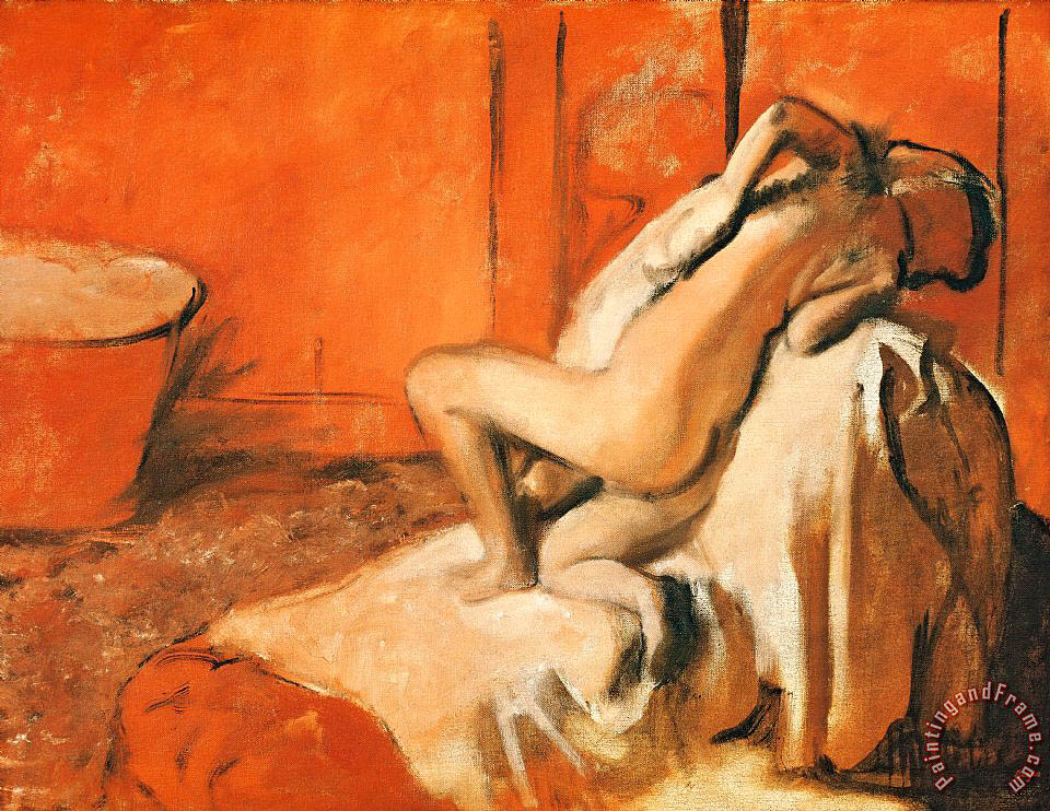 Edgar Degas After the Bath Art Print
