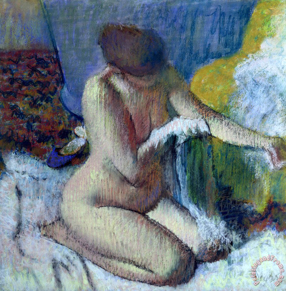 Edgar Degas After the Bath Art Painting