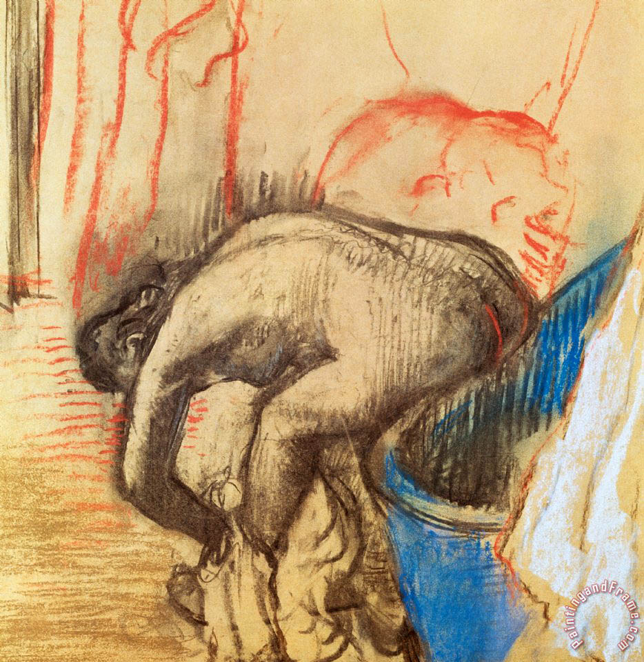 Edgar Degas After Bath Art Print