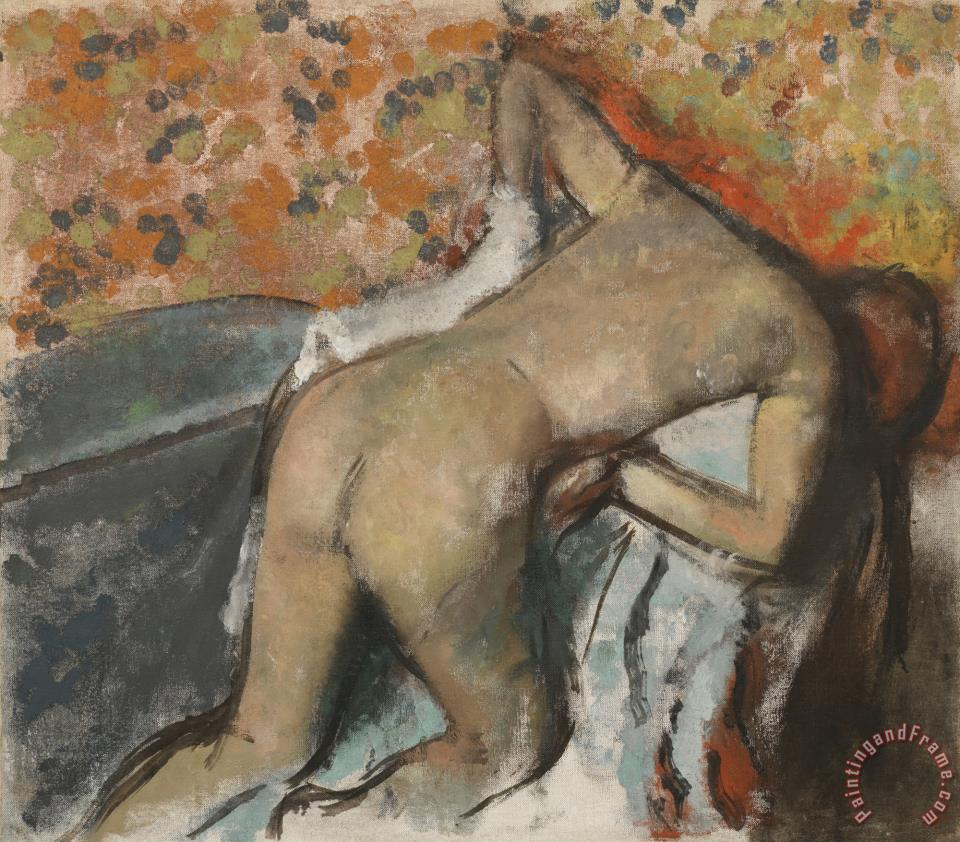 After The Bath, Woman Drying Herself (apres Le Bain, Femme S'essuyant) painting - Edgar Degas After The Bath, Woman Drying Herself (apres Le Bain, Femme S'essuyant) Art Print