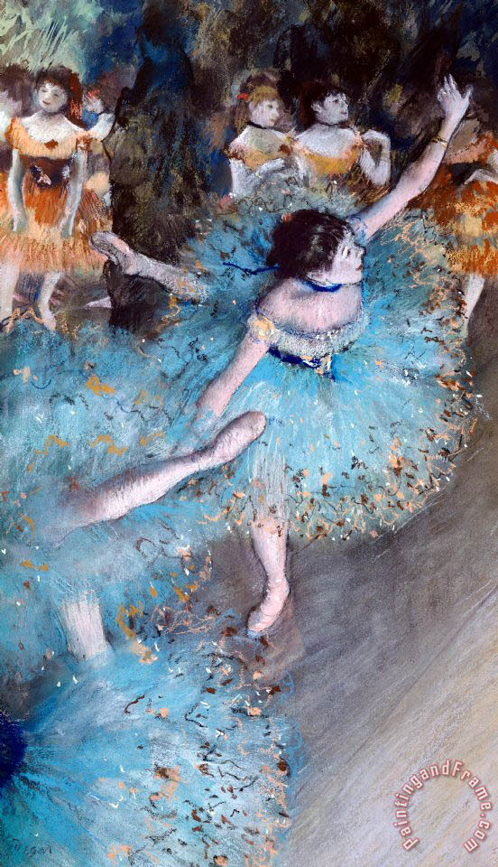 Ballerina On Pointe painting - Edgar Degas Ballerina On Pointe Art Print