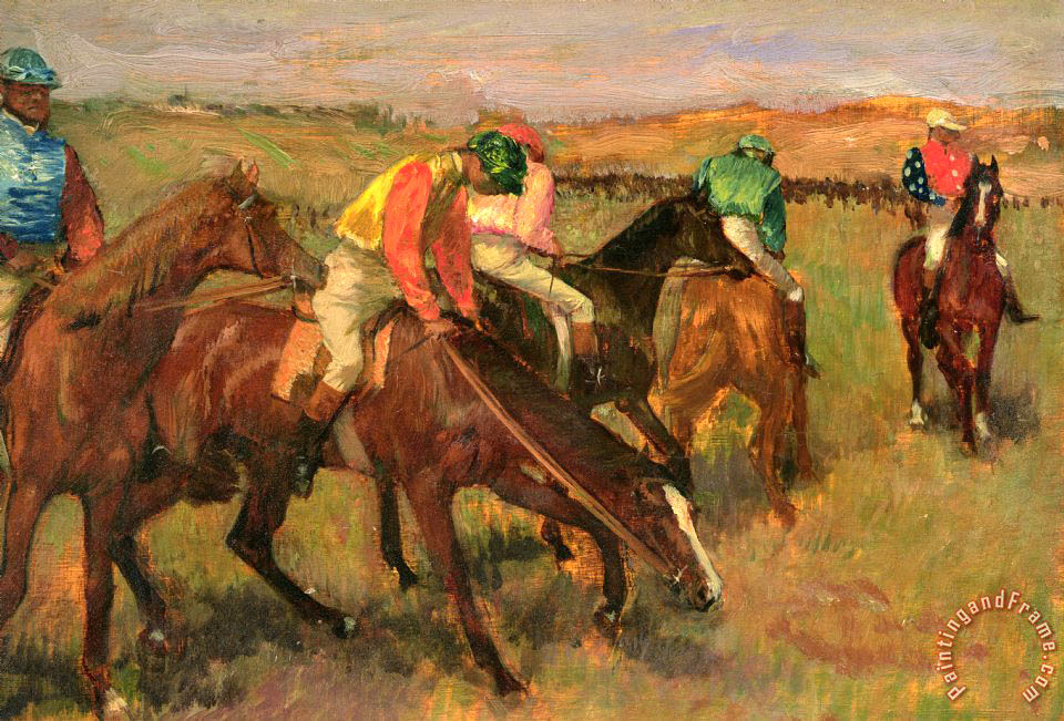 Before the Races painting - Edgar Degas Before the Races Art Print