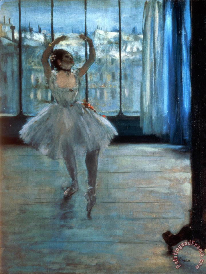 Edgar Degas Dancer in Front of a Window Art Print