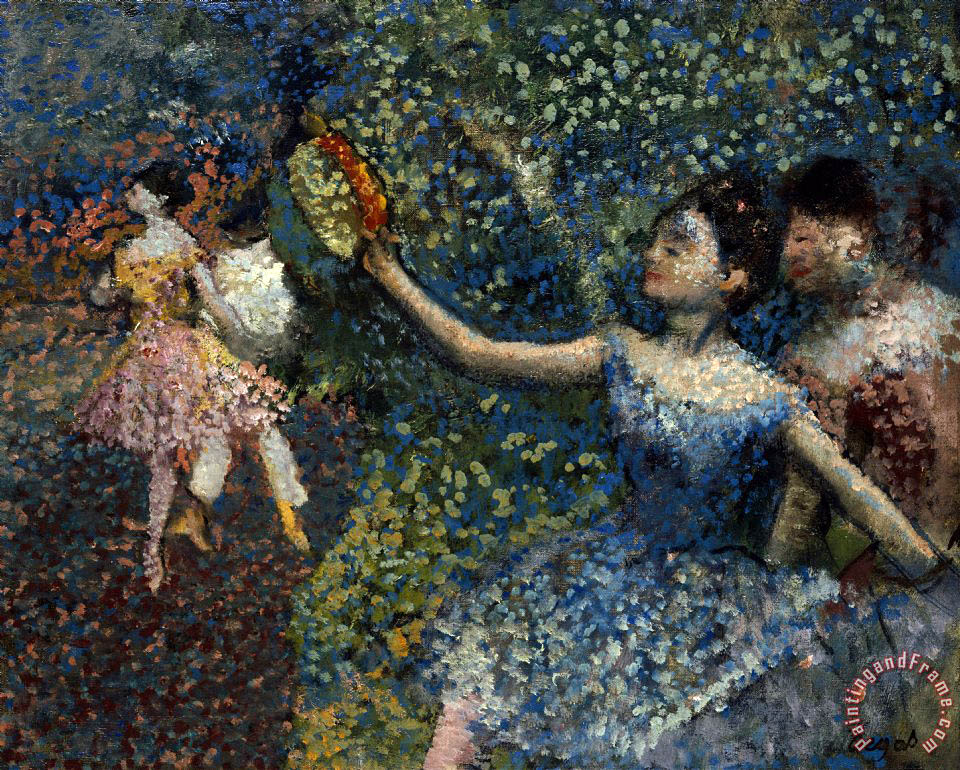 Edgar Degas Dancer with a Tambourine Art Painting