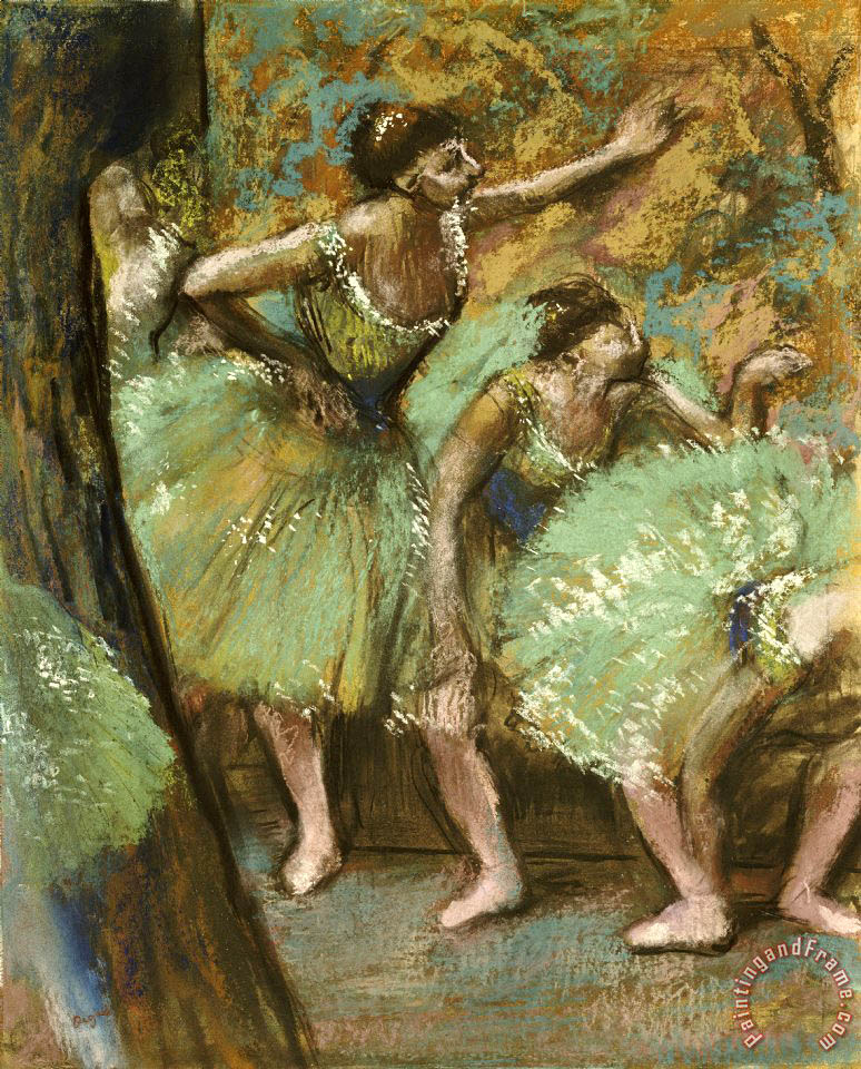 Edgar Degas Dancers painting