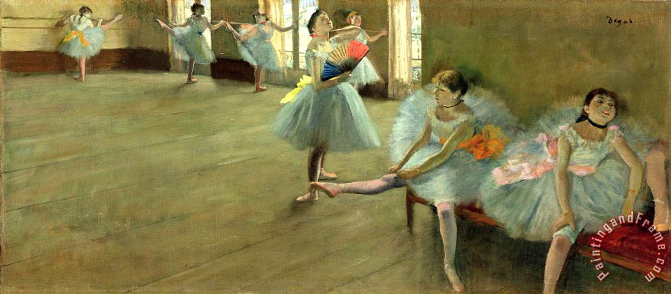 Dancers in the Classroom painting - Edgar Degas Dancers in the Classroom Art Print
