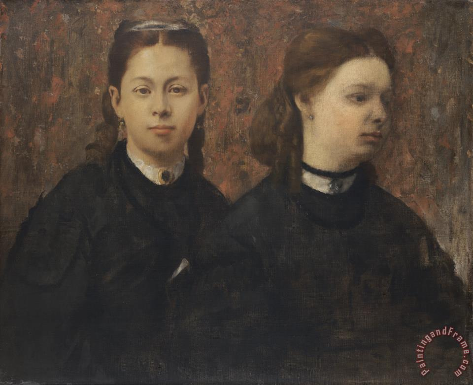 Edgar Degas Double Portrait The Cousins of The Painter Art Painting