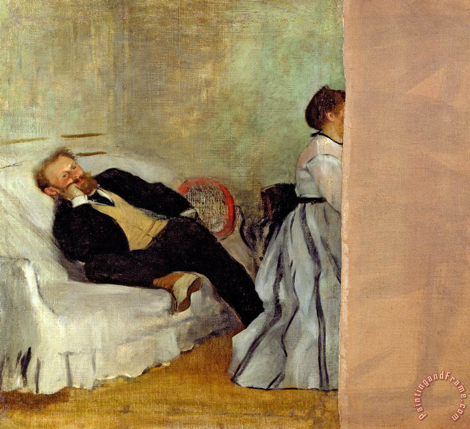 Monsieur and Madame Edouard Manet painting - Edgar Degas Monsieur and Madame Edouard Manet Art Print