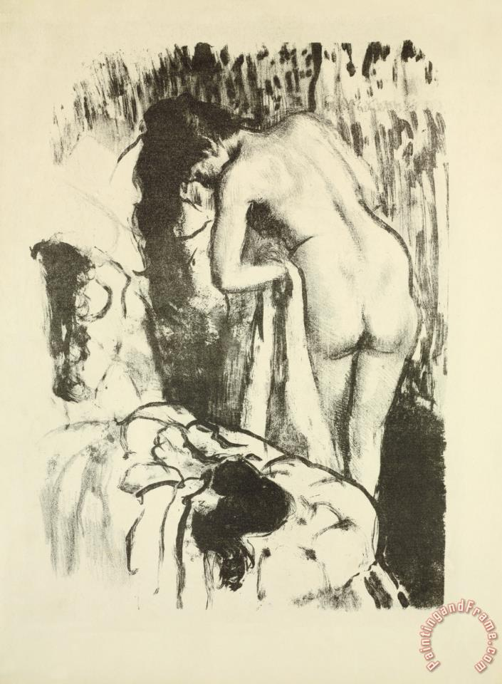 Edgar Degas Nude Woman, Standing, Drying Herself Art Print