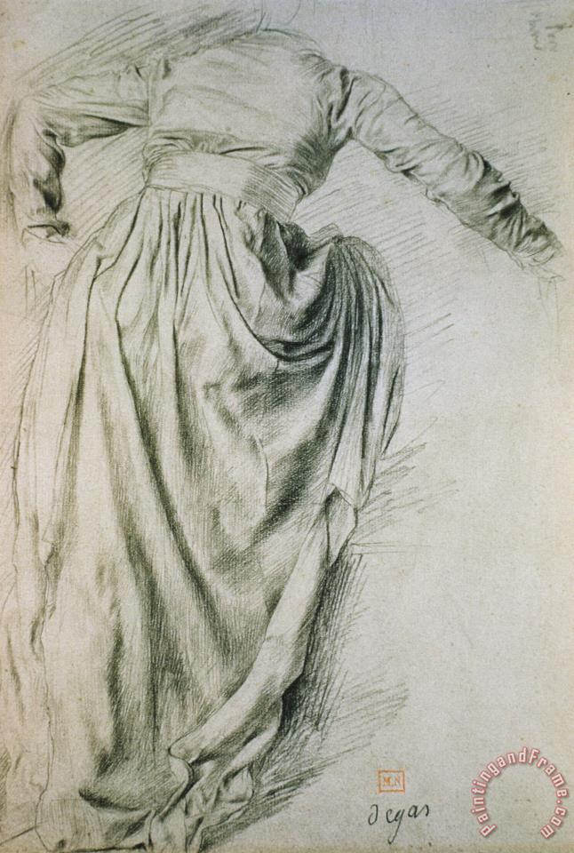 Study of a Draped Woman painting - Edgar Degas Study of a Draped Woman Art Print