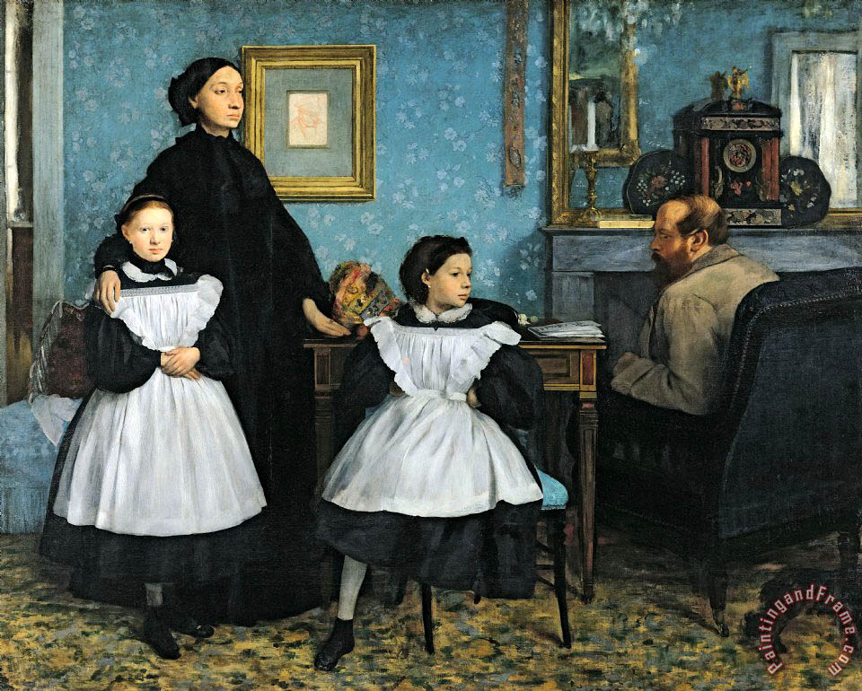 The Bellelli Family painting - Edgar Degas The Bellelli Family Art Print